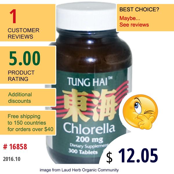 Life Time, Tung Hai, Chlorella, 200 Mg, 300 Tablets