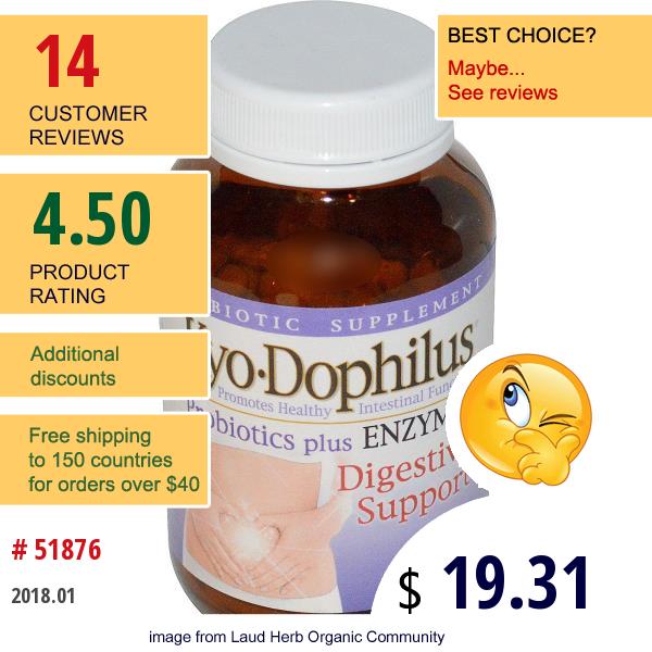 Wakunaga - Kyolic, Kyo•dophilus, Probiotics Plus Enzymes, 120 Capsules