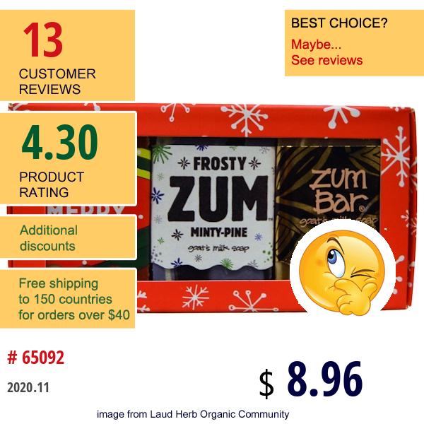 Indigo Wild, Assorted Holiday Mini 3 Bar Box, 3 Piece Kit