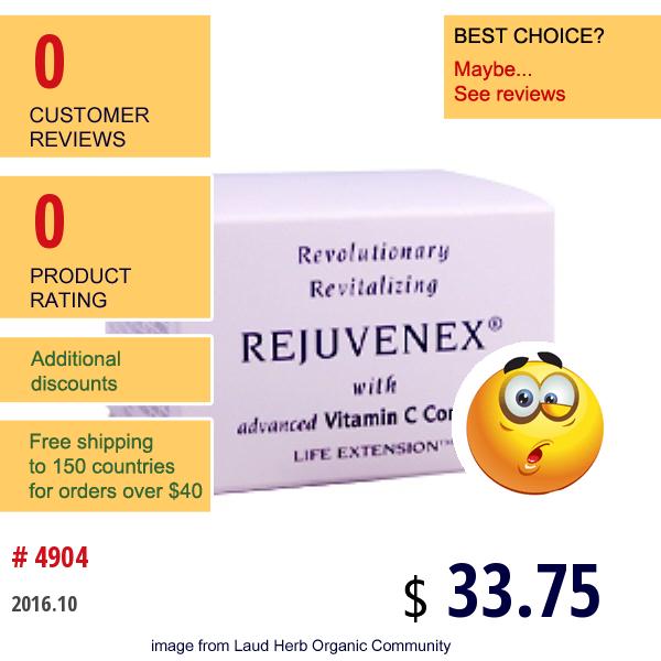 Life Extension, Rejuvenex With Advanced Vitamin C Complex, 2 Oz