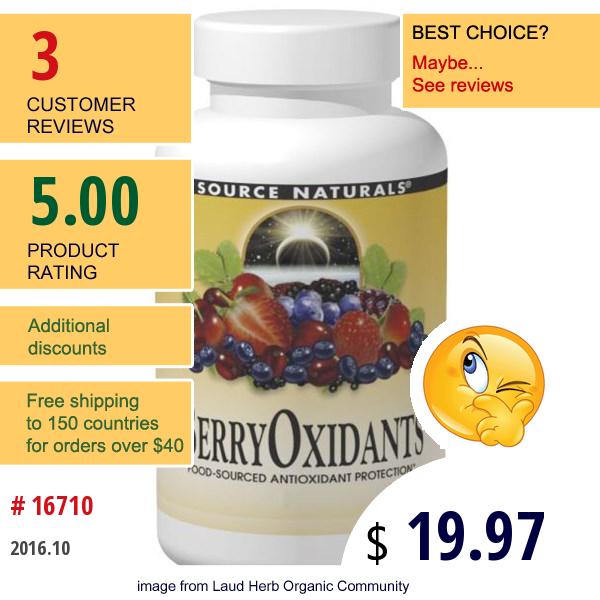Source Naturals, Berryoxidants, 120 Tablets