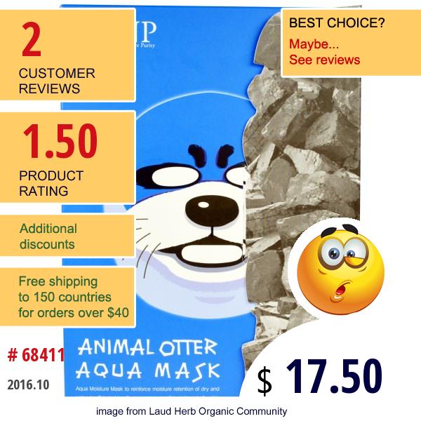 Snp, Animal Otter Aqua Mask, 10 Masks X (25 Ml) Each