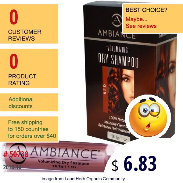 Ambiance Cosmetics Inc, Volumizing Dry Shampoo Refill, Red, 1 Oz (28.3 G)