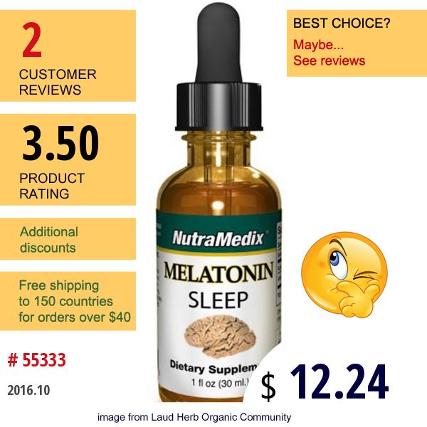 Nutramedix, Melatonin Sleep, 1 Fl Oz (30 Ml)