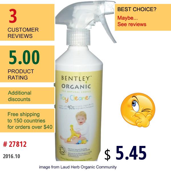 Bentley Organic, Toy Cleaner, 16.9 Fl Oz (500 Ml)