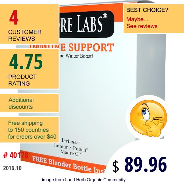 Madre Labs, Immune Support With Blender Bottle, 6.35 Oz (180 G) Each