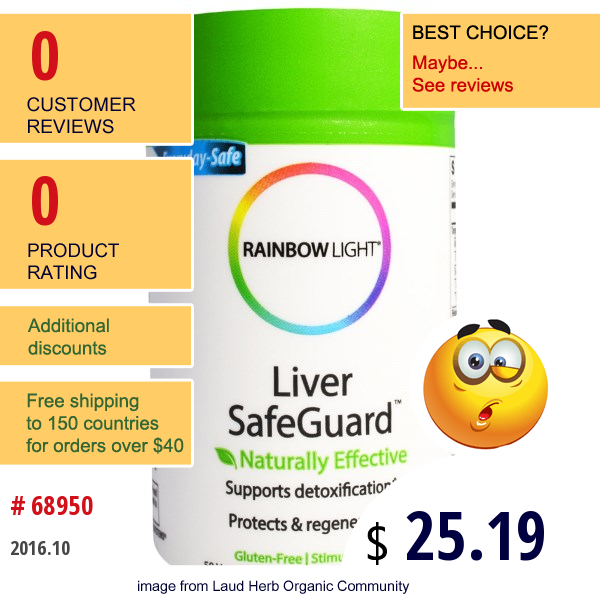 Rainbow Light, Liver Safeguard, 50 Veggie Caps