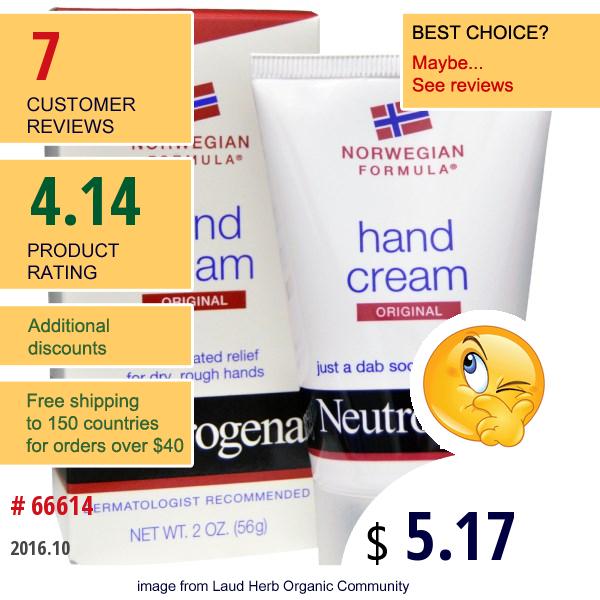 Neutrogena, Hand Cream, Original, 2 Oz (56 G)