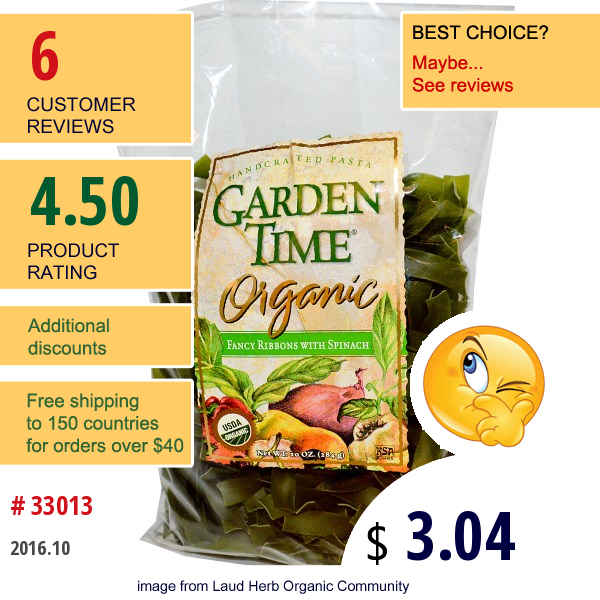 Gat, Handcrafted Pasta, Fancy Ribbons With Spinach Pasta, 10 Oz (284 G)