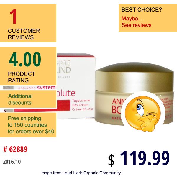 Annemarie Borlind, System Absolute, Anti-Aging Day Cream, 1.69 Fl Oz (50 Ml)