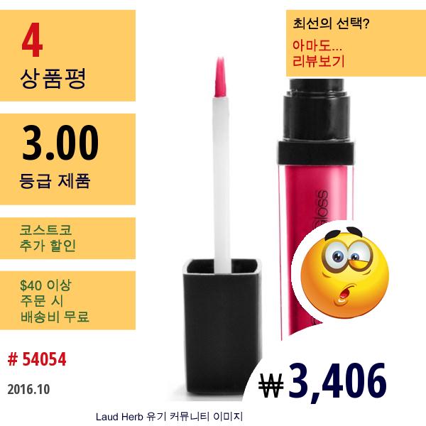 E.l.f. Cosmetics, 스튜디오 글로시 글로스, 메리 체리, 0.24 온스 (6.8 그램)