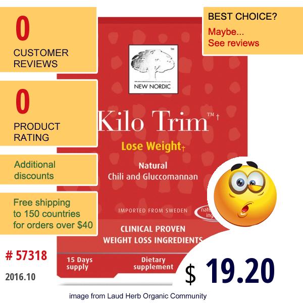 New Nordic Us Inc, Kilo Trim, 45 Tablets