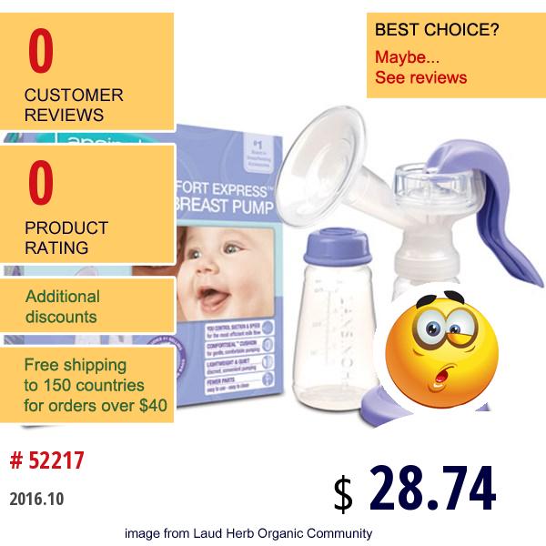 Lansinoh, Comfort Express Manual Breast Pump, 1 Pump