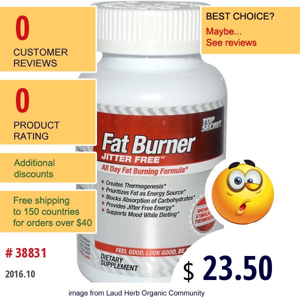 Top Secret Nutrition, Fat Burner, 120 Capsules
