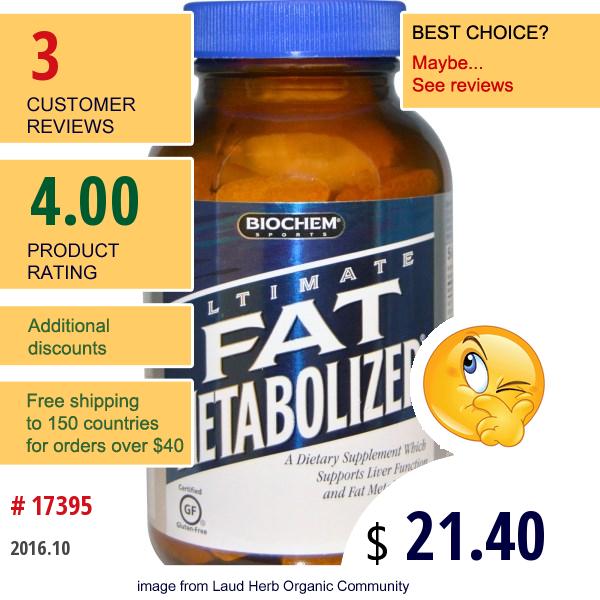 Country Life, Biochem Sport, Ultimate Fat Metabolizer, 90 Tablets