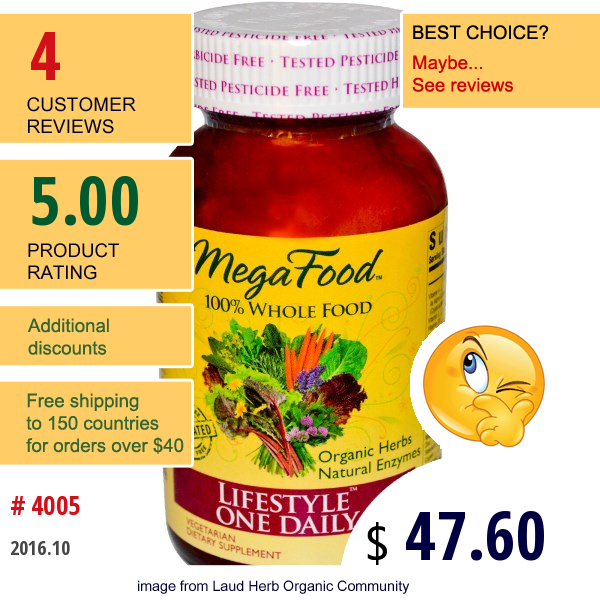 Megafood, Lifestyle One Daily, 90 Tablets