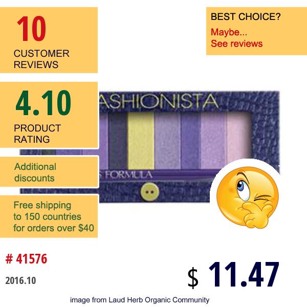 Physicians Formula, Inc., Shimmer Strips, Custom Eye Enhancing Shadow & Liner, Fashionista Eyes, 0.26 Oz (7.5 G)