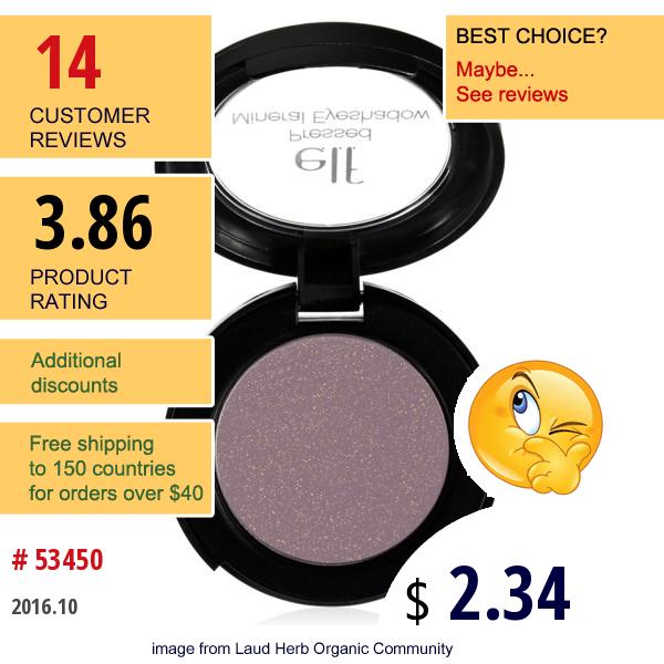 E.l.f. Cosmetics, Pressed Mineral Eyeshadow, Wine Tour, 0.11 Oz (3 G)