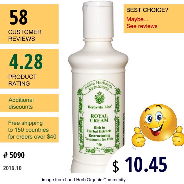 Herbatint, Herbavita Line, Royal Cream, 6.80 Fl Oz (200 Ml)