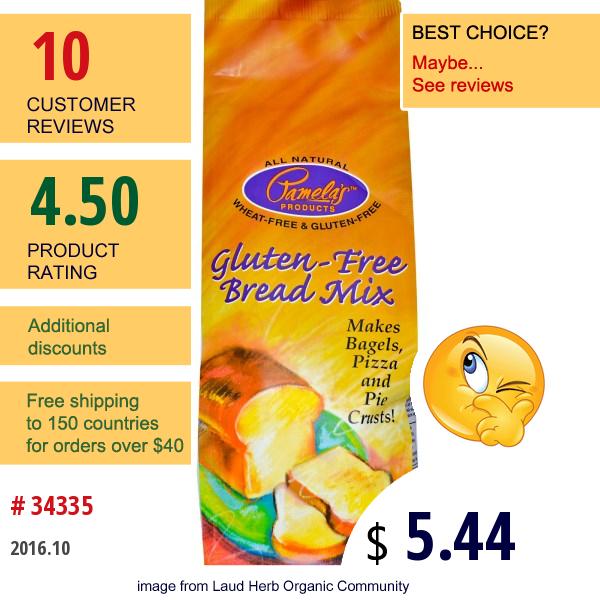 Pamelas Products, Gluten-Free Bread Mix, 19 Oz (539 G)