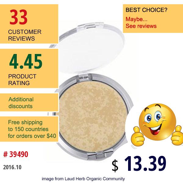 Physicians Formula, Inc., Mineral Wear, Talc-Free Mineral Face Powder, Spf 16, Buff Beige 2797, 0.3 Oz (9 G)