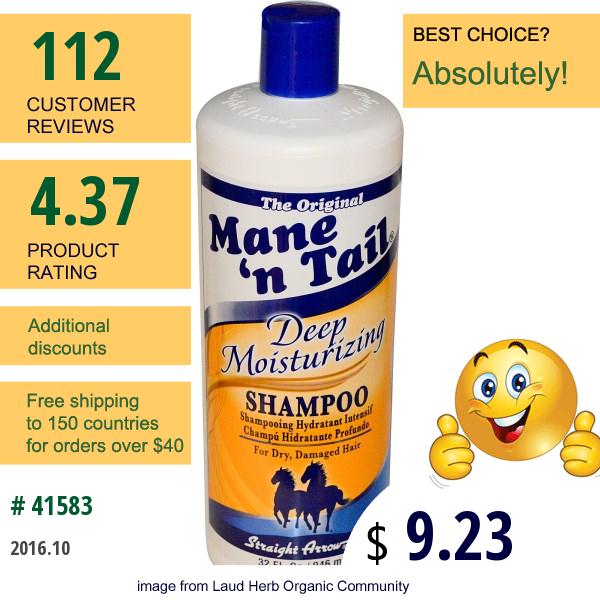 Mane n Tail, Deep Moisturizing Shampoo, 32 Fl Oz (946 Ml)
