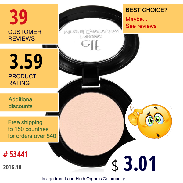 E.l.f. Cosmetics, Pressed Mineral Eyeshadow, Beauty Queen, 0.11 Oz (3 G)