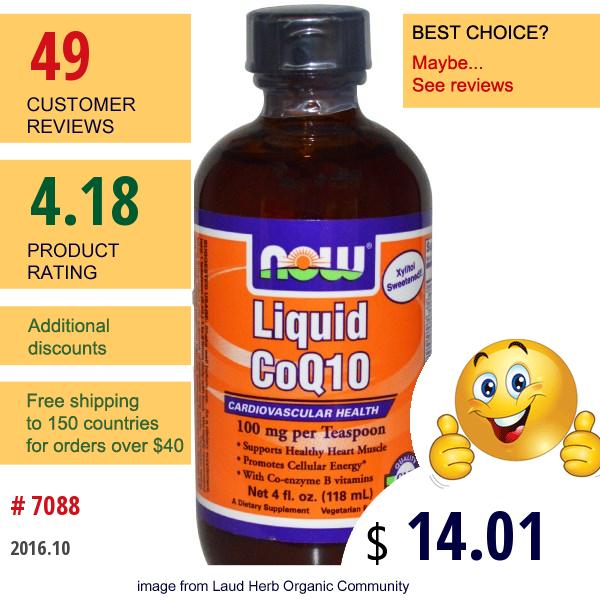Now Foods, Liquid Coq10, 4 Fl Oz (118 Ml)