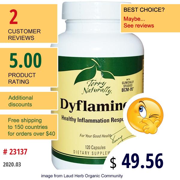 Europharma, Terry Naturally, Terry Naturally, Dyflaminol, 120 Capsules