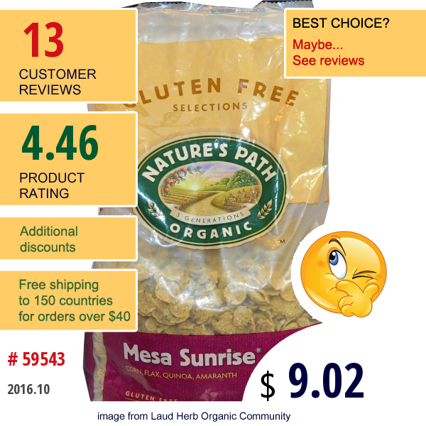 Natures Path, Organic Mesa Sunrise, Gluten-Free Cereal, 26.4 Oz (750 G)