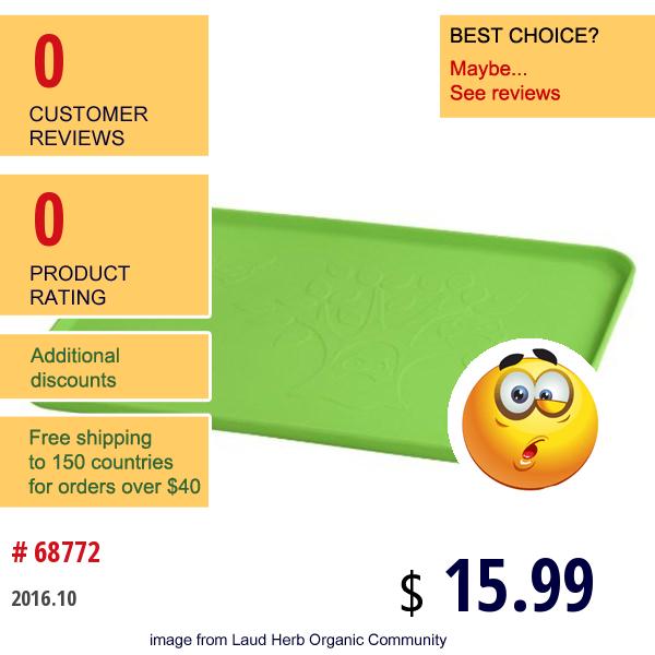 Iplay Inc., Learning Platemat, 6+ Months, Green, 1 Mat, 14 X 10 (35.5 Cm X 25 Cm)