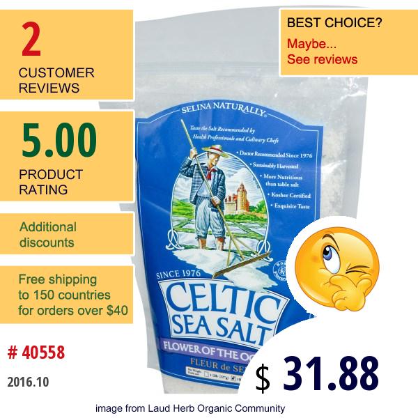 Celtic Sea Salt, Flower Of The Ocean, 1 Lb (454 G)