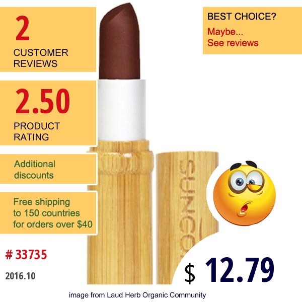 Suncoat, Natural Lip Stick, In A Bamboo Cartridge, Coffee Mocha, 0.23 Fl Oz (7 Ml)