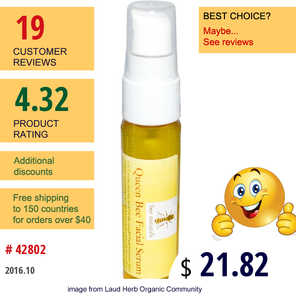 Bee Naturals, Queen Bee Facial Serum, 1 Fl Oz