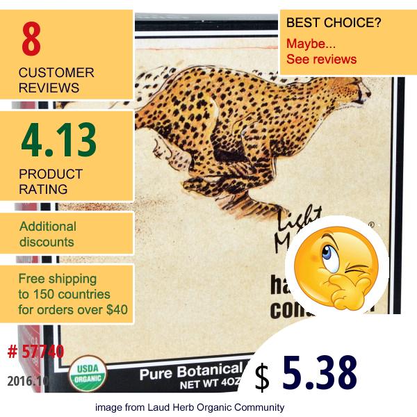 Light Mountain, Organic Natural Hair Color & Conditioner, Auburn, 4 Oz (113 G)