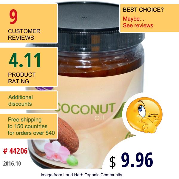 Life Flo Health, Organic, Pure Coconut Oil, Skin Care, 9 Fl Oz (266 Ml)