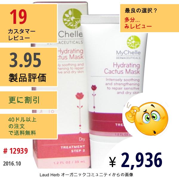 Mychelle Dermaceuticals, ハイドレーティング・カクタス・マスク、 1.2 液量オンス (35 Ml)