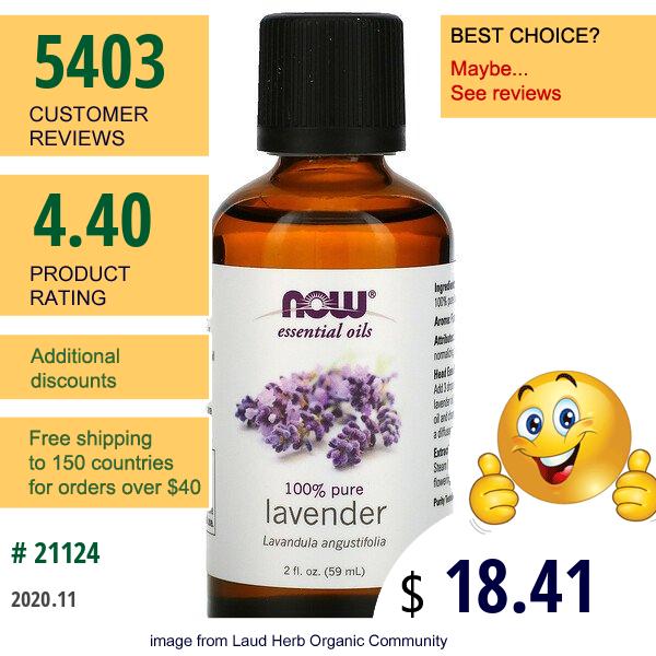 Now Foods, Essential Oils, Lavender, 2 Fl Oz (59 Ml)