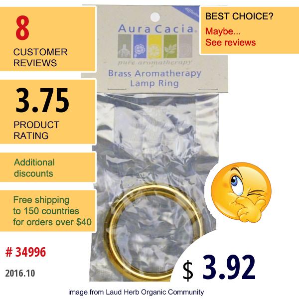 Aura Cacia, Brass Aromatherapy Lamp Ring