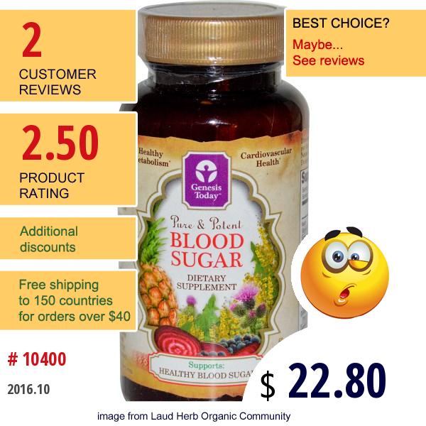 Genesis Today, Blood Sugar, 60 Capsules